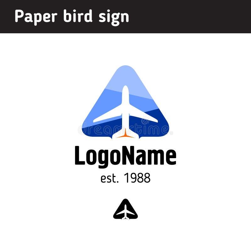 Αεροπλάνο προτύπων λογότυπων σε ένα τρίγωνο απεικόνιση αποθεμάτων