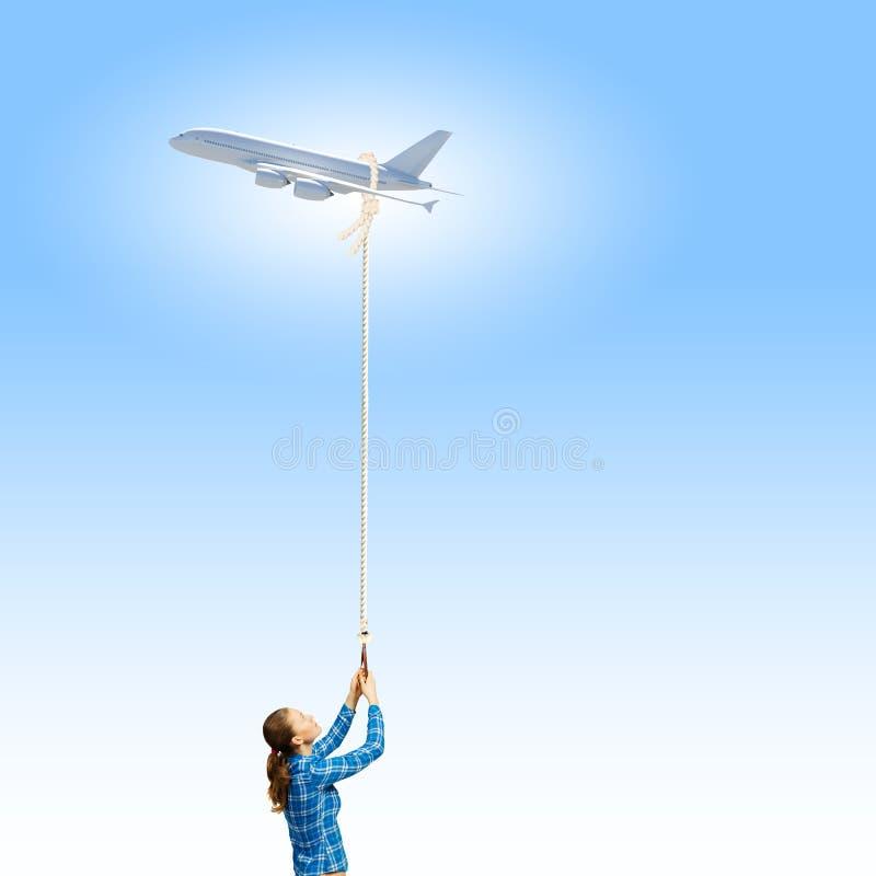 Αεροπλάνο στον ουρανό στοκ εικόνες με δικαίωμα ελεύθερης χρήσης