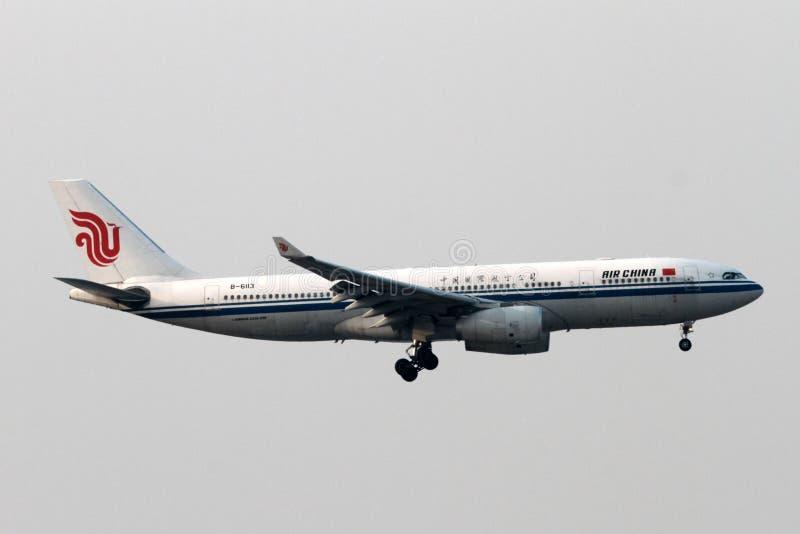 Αεροπλάνο της Air China στοκ εικόνες