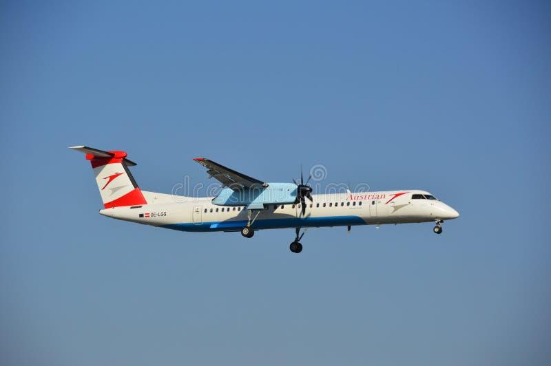Αεροπλάνο της Austrian Airlines στοκ εικόνα με δικαίωμα ελεύθερης χρήσης
