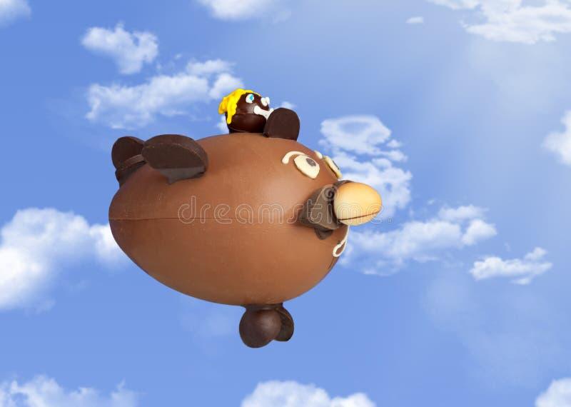 Αεροπλάνο Choccolate στον ουρανό στοκ φωτογραφία
