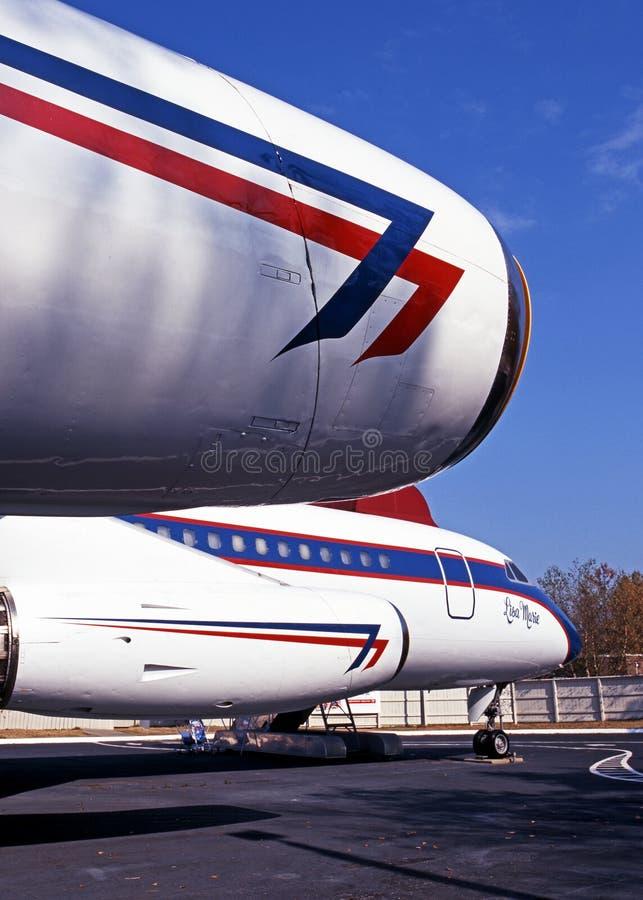 Αεροπλάνο Convair CV880 στοκ εικόνα με δικαίωμα ελεύθερης χρήσης