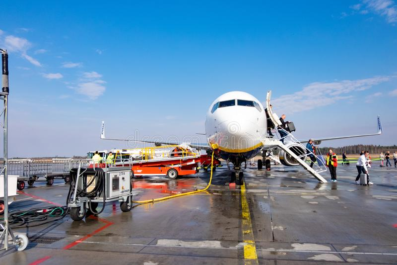 Αεροσκάφη στον αερολιμένα της Στοκχόλμης στοκ εικόνα με δικαίωμα ελεύθερης χρήσης