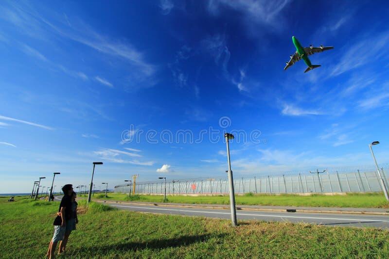 Αεροσκάφη στον ουρανό στοκ φωτογραφία με δικαίωμα ελεύθερης χρήσης