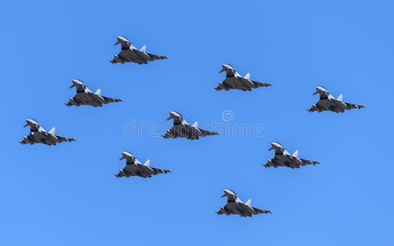 Αεροσκάφη τυφώνα Eurofighter στοκ φωτογραφίες με δικαίωμα ελεύθερης χρήσης