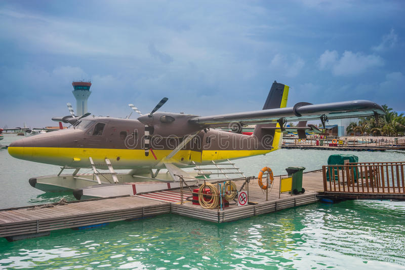 Αεροταξί των Μαλδίβες στοκ φωτογραφία με δικαίωμα ελεύθερης χρήσης