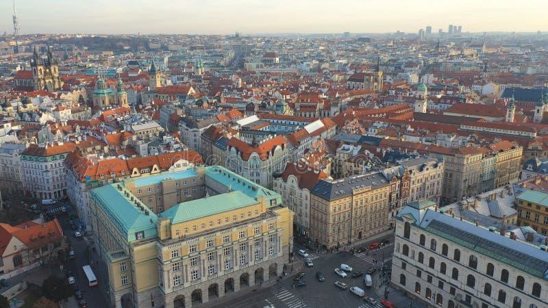 Αεροφωτογραφία της Prague Old Town ή του Stare Mesto, Τσεχική Δημοκρατία στοκ εικόνες