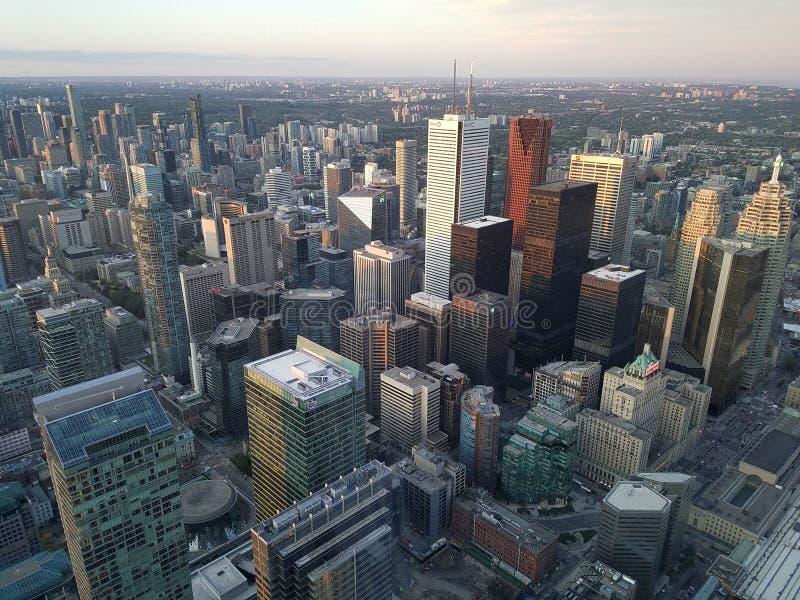 Αεροφωτογραφία του κέντρου του Τορόντο, Οντάριο, Καναδάς στοκ φωτογραφίες