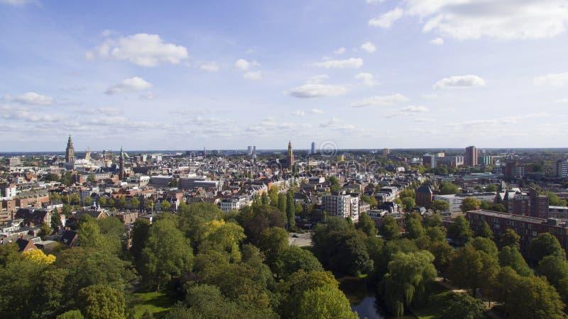 Αεροφωτογραφία του Groningen στοκ φωτογραφίες με δικαίωμα ελεύθερης χρήσης