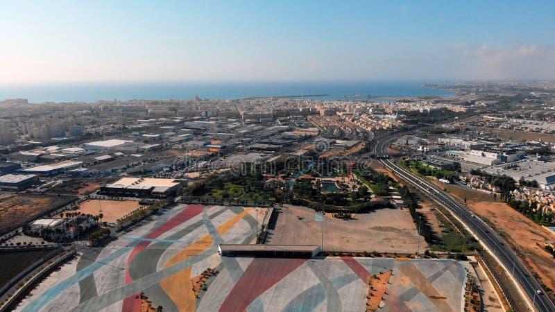 Αεροφωτογραφία Torrevieja της πόλης Κόστα Μπλάνκα Ισπανία στοκ εικόνες με δικαίωμα ελεύθερης χρήσης