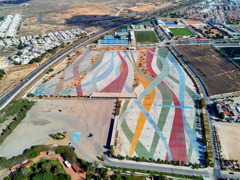 Αεροφωτογραφία Torrevieja townscape Ισπανία στοκ εικόνες