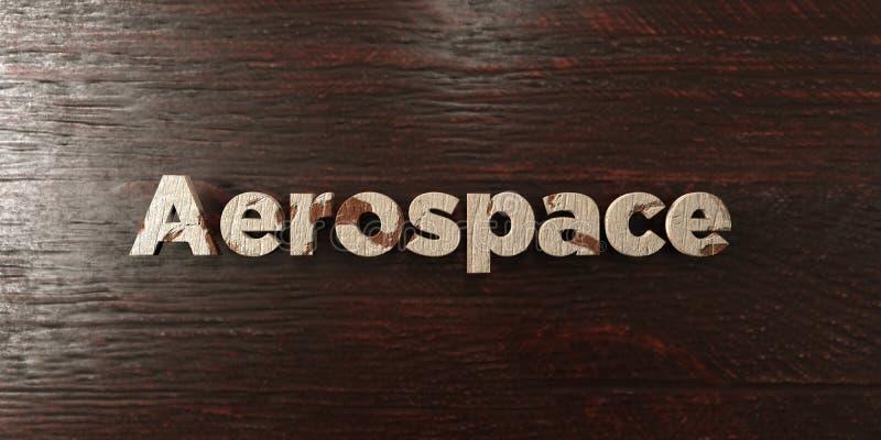 Αεροδιαστημικό - βρώμικος ξύλινος τίτλος στο σφένδαμνο - τρισδιάστατο δικαίωμα ελεύθερη εικόνα αποθεμάτων διανυσματική απεικόνιση