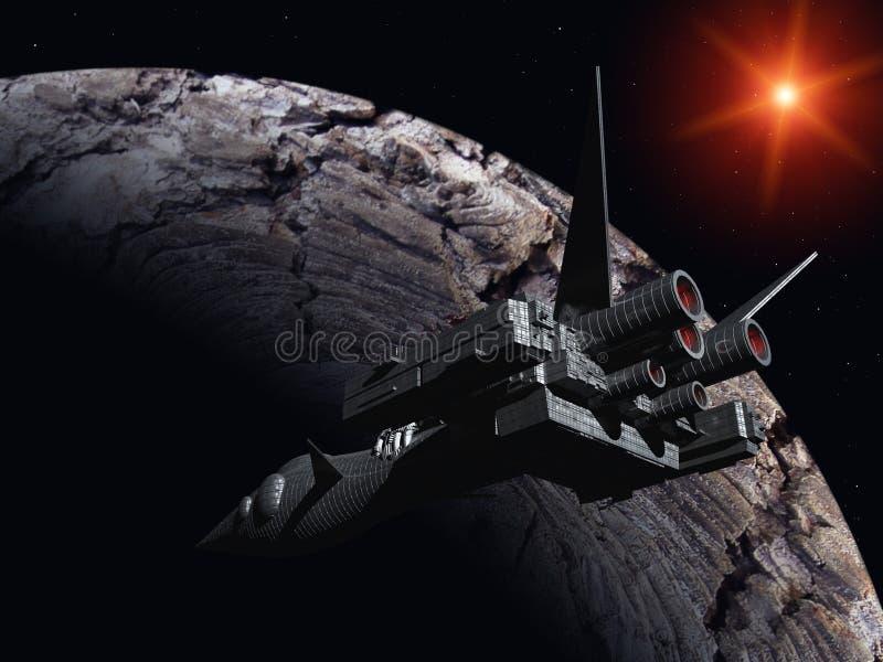 Αεροδιαστημικό όχημα διανυσματική απεικόνιση