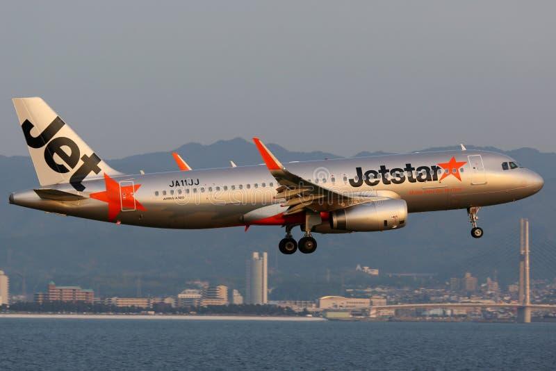 Αερολιμένας της Οζάκα Kansai airbus Jetstar A320 στοκ φωτογραφίες με δικαίωμα ελεύθερης χρήσης