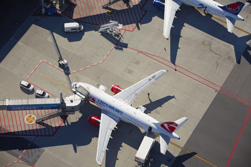 Αερολιμένας του Βάτσλαβ Χάβελ Πράγα στοκ φωτογραφία με δικαίωμα ελεύθερης χρήσης