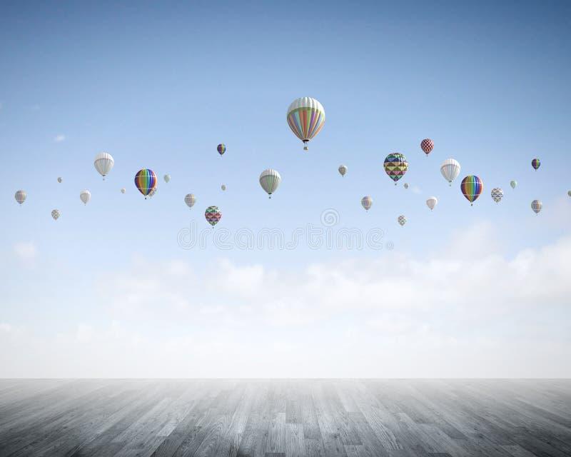 Αερόστατα στον ουρανό στοκ εικόνα με δικαίωμα ελεύθερης χρήσης