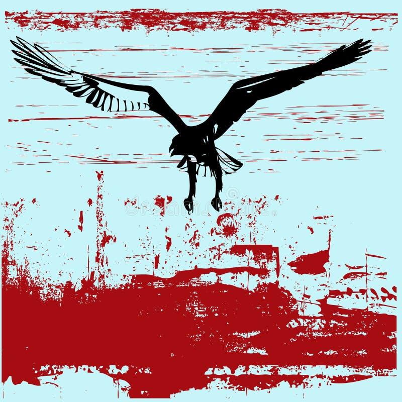αετός ανασκόπησης grunge απεικόνιση αποθεμάτων