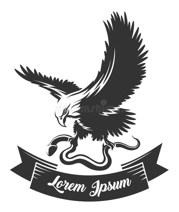 Αετός με το φίδι και την κορδέλλα ελεύθερη απεικόνιση δικαιώματος