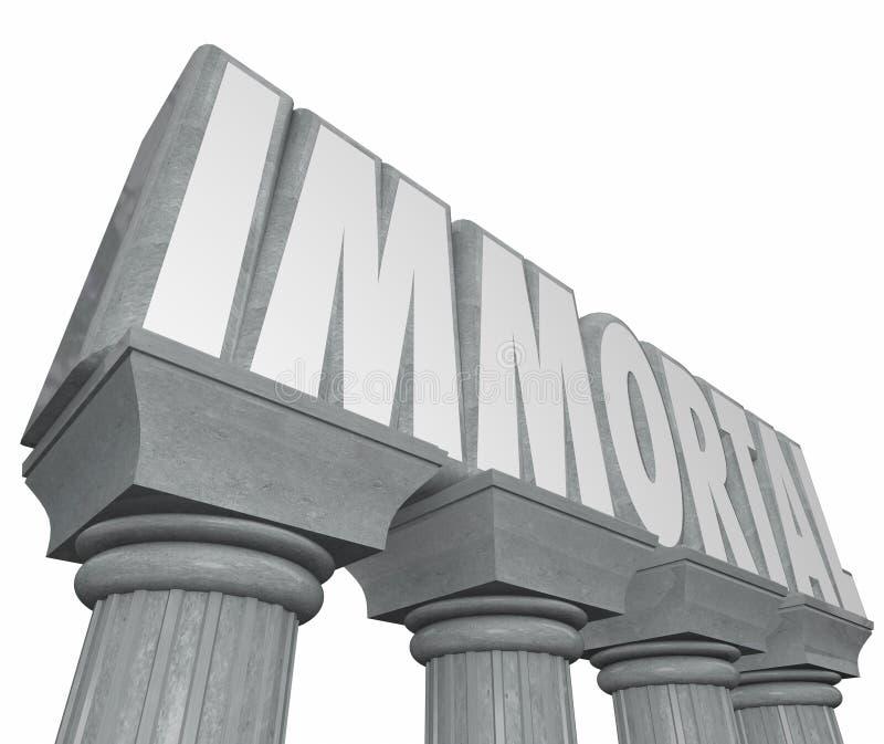 Αθάνατο ακατάλυτο ατέρμονο λι στηλών του Word πέτρινο μαρμάρινο ελεύθερη απεικόνιση δικαιώματος
