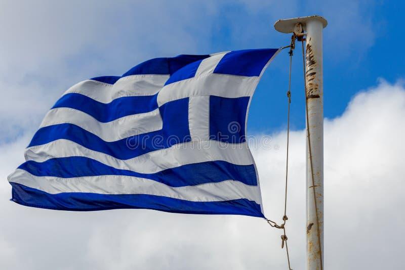 αθεϊσμού Η ελληνική σημαία στοκ φωτογραφία