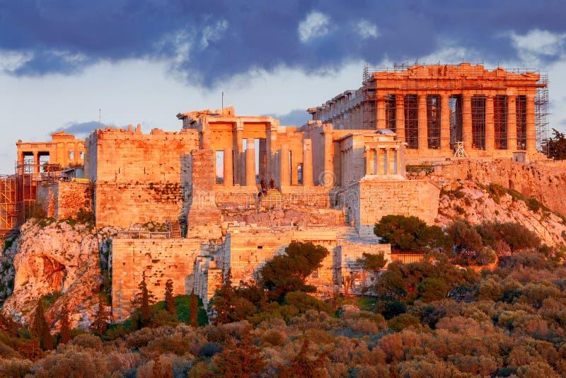 αθεϊσμού Το Parthenon στην ακρόπολη στοκ φωτογραφίες