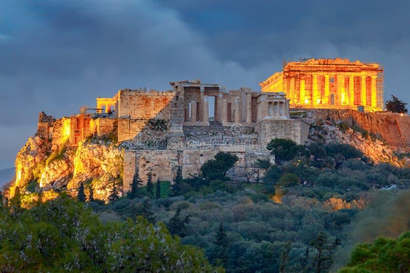 αθεϊσμού Το Parthenon στην ακρόπολη στοκ εικόνες
