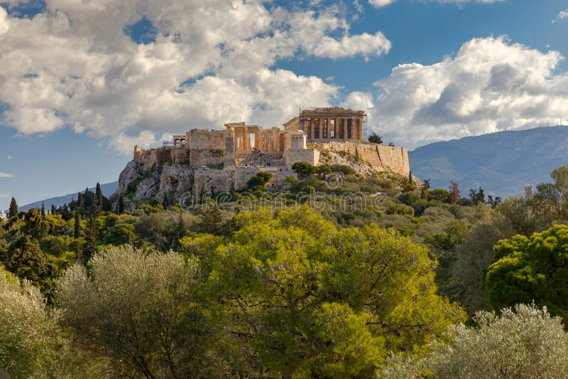 αθεϊσμού Το Parthenon στην ακρόπολη στοκ εικόνα με δικαίωμα ελεύθερης χρήσης