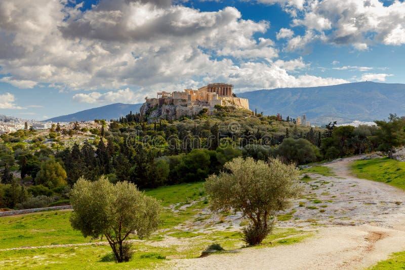 αθεϊσμού Το Parthenon στην ακρόπολη στοκ εικόνες με δικαίωμα ελεύθερης χρήσης