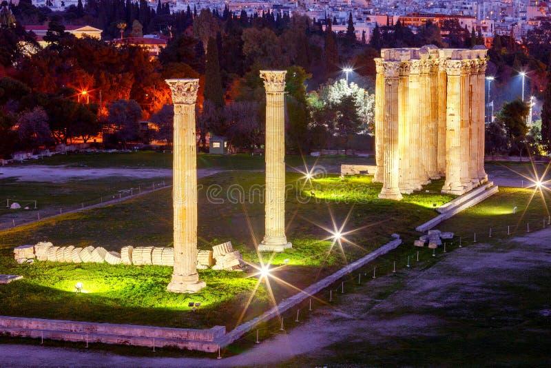αθεϊσμού zeus ναών της Αθήνας στοκ φωτογραφίες με δικαίωμα ελεύθερης χρήσης