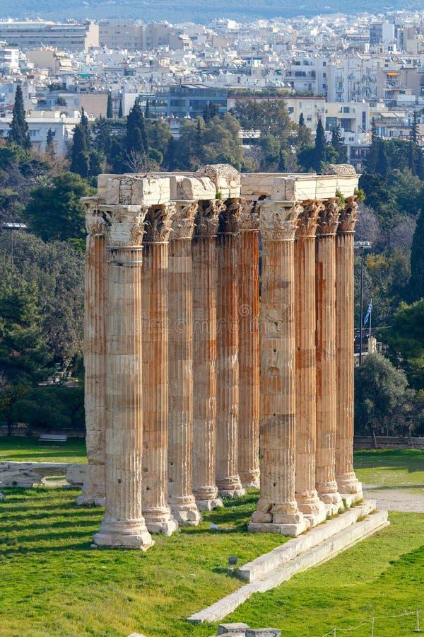 αθεϊσμού zeus ναών της Αθήνας στοκ φωτογραφίες
