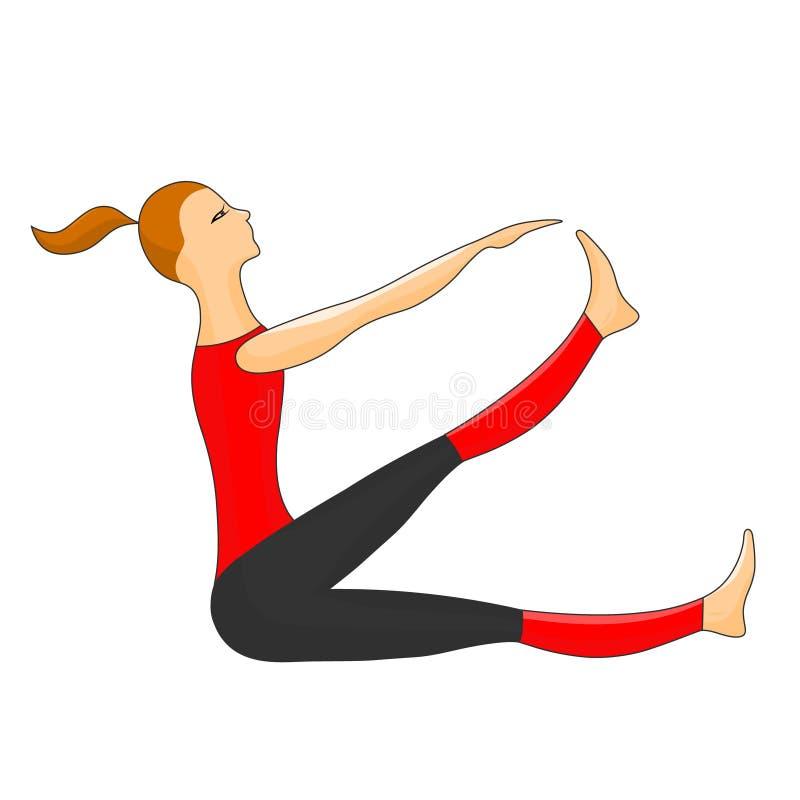 Αθλήτρια Διανυσματική εικόνα χρώματος απεικόνιση αποθεμάτων