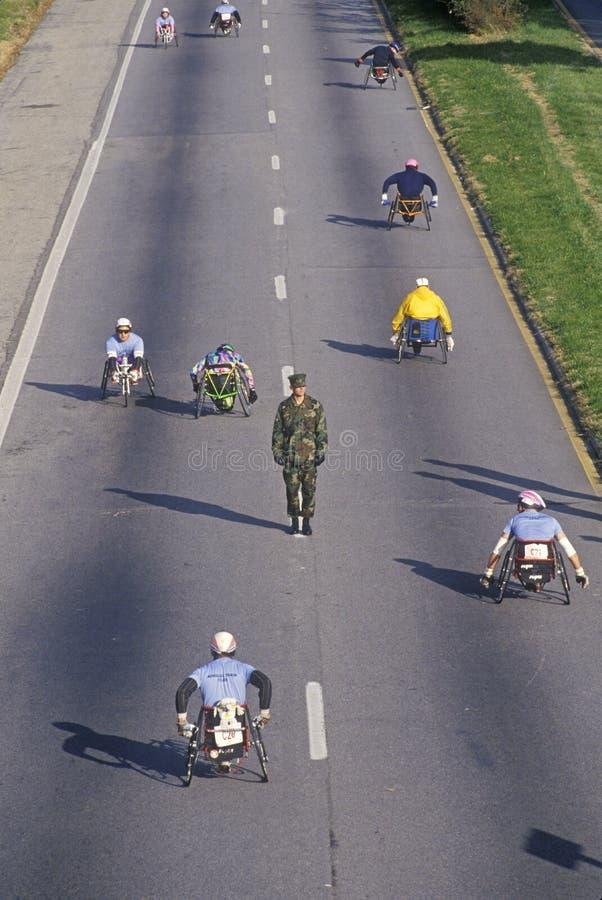 Αθλητές αναπηρικών καρεκλών στοκ εικόνα με δικαίωμα ελεύθερης χρήσης