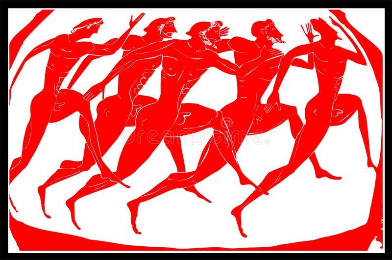αθλητές Ελλάδα παλαιά ελεύθερη απεικόνιση δικαιώματος