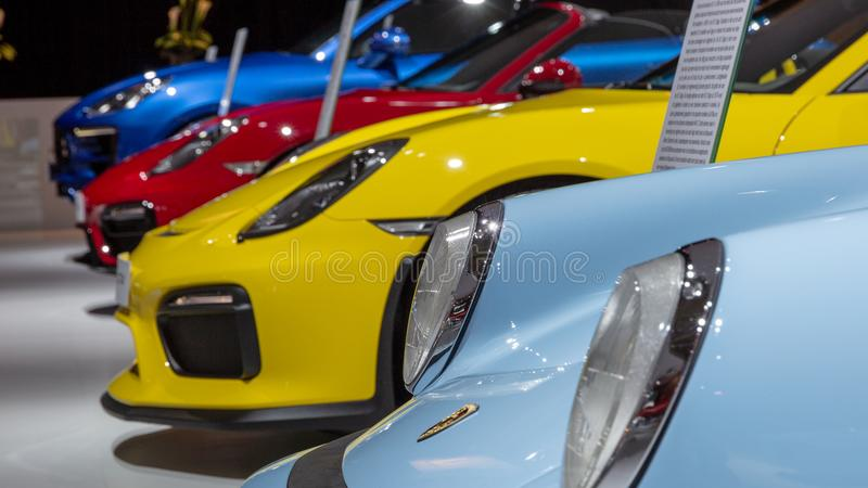 Αθλητικά αυτοκίνητα της Porsche στοκ εικόνες