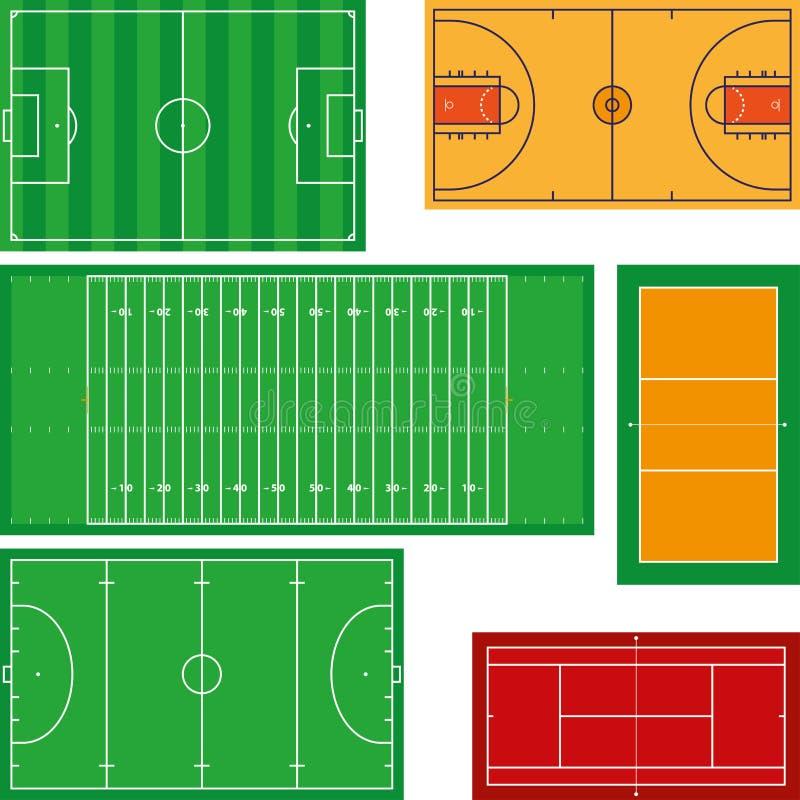 Αθλητικά πεδία απεικόνιση αποθεμάτων
