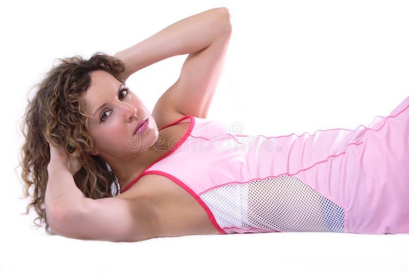 αθλητικά situps workout στοκ εικόνες