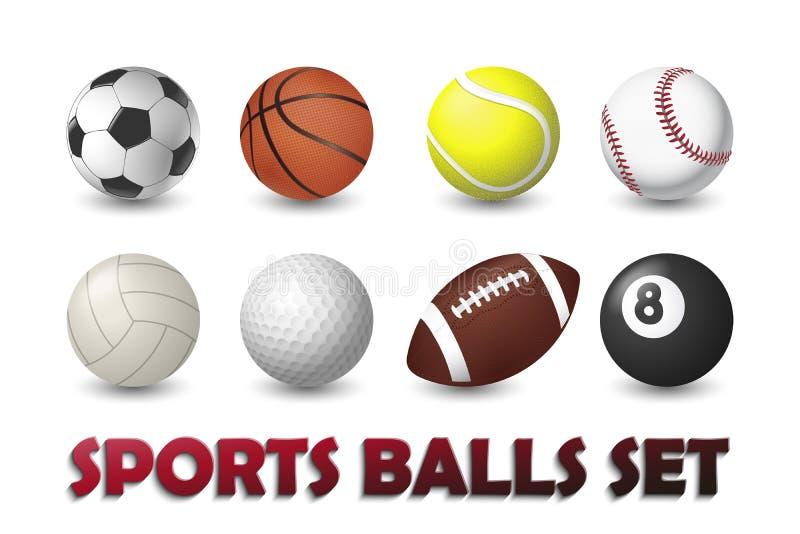 Αθλητικές σφαίρες καθορισμένες διανυσματική απεικόνιση