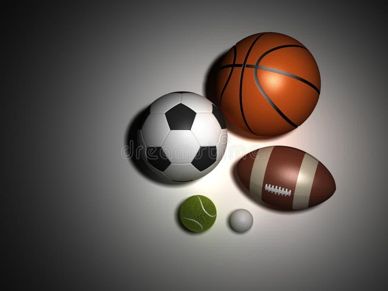 Αθλητικές σφαίρες στοκ εικόνα με δικαίωμα ελεύθερης χρήσης