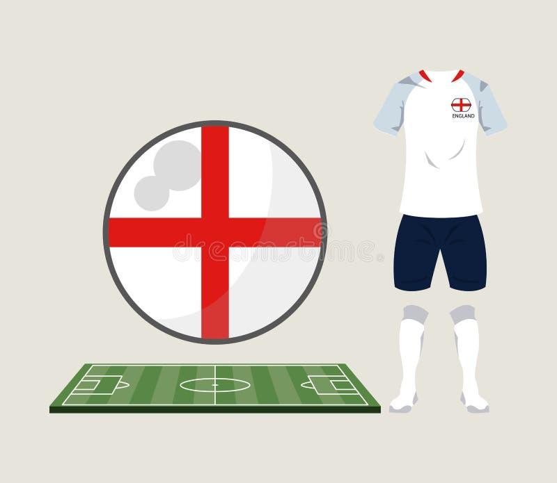 Αθλητική ένδυση της Αγγλίας ποδοσφαίρου απεικόνιση αποθεμάτων
