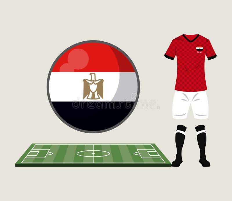 Αθλητική ένδυση της Αιγύπτου ποδοσφαίρου διανυσματική απεικόνιση