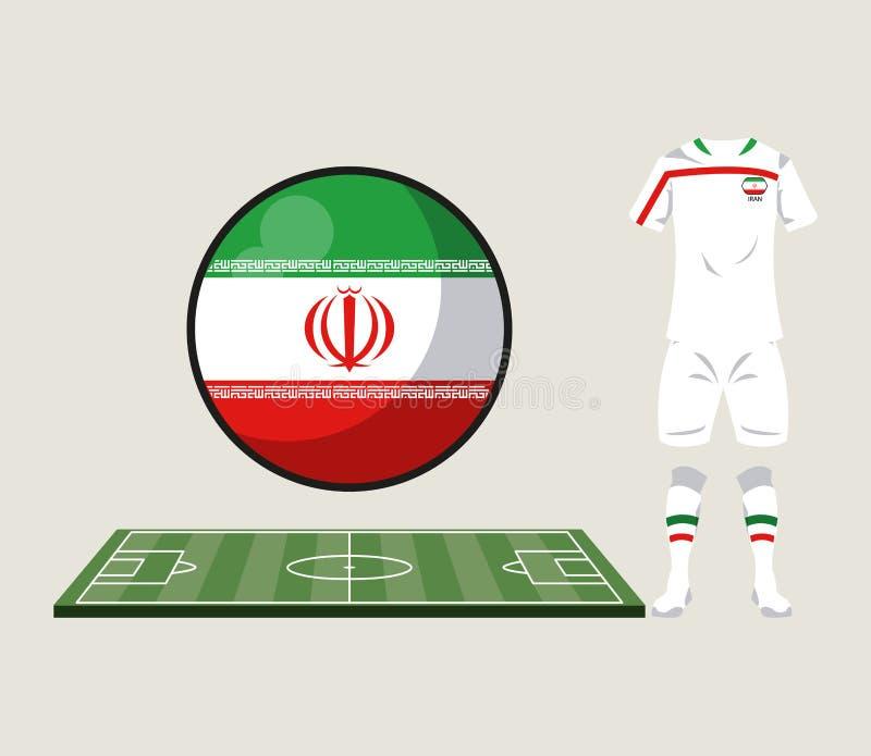Αθλητική ένδυση του Ιράν ποδοσφαίρου απεικόνιση αποθεμάτων