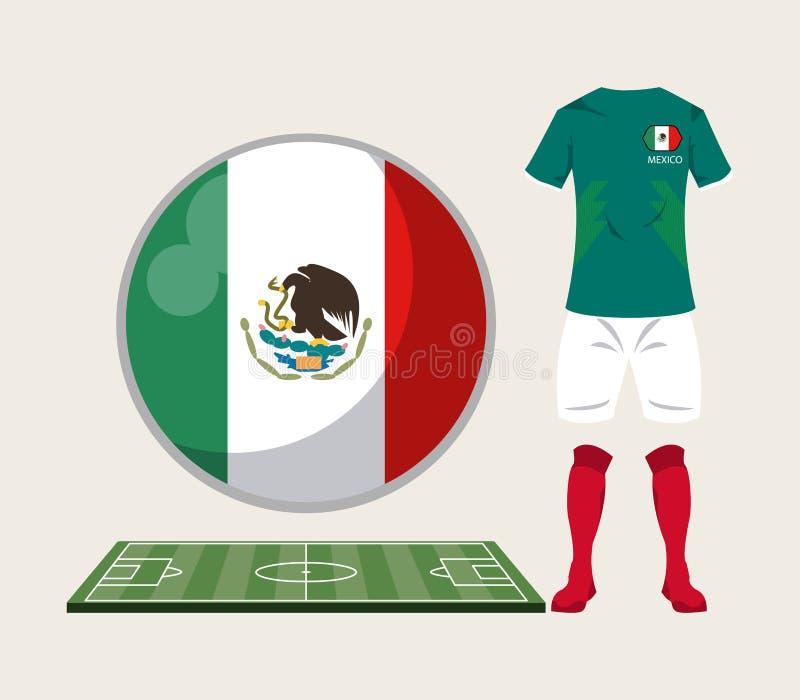 Αθλητική ένδυση του Μεξικού ποδοσφαίρου ελεύθερη απεικόνιση δικαιώματος