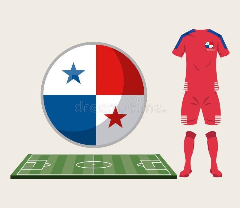 Αθλητική ένδυση του Παναμά ποδοσφαίρου ελεύθερη απεικόνιση δικαιώματος