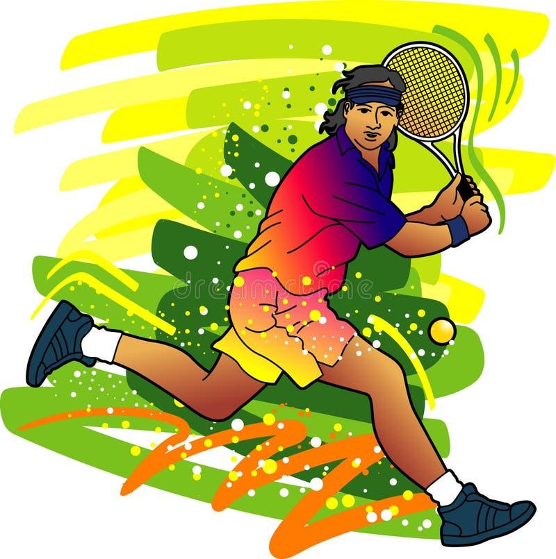 αθλητική αντισφαίριση σειράς παικτών διανυσματική απεικόνιση