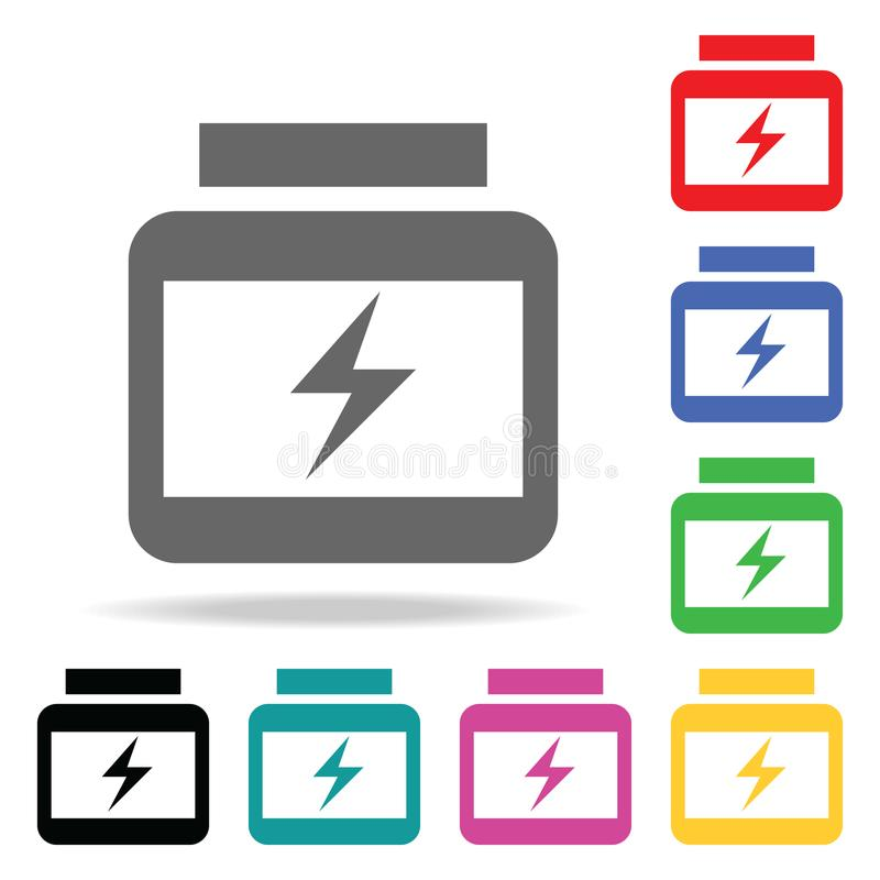 Αθλητική διατροφή Στοιχείο του αθλητικού πολυ χρωματισμένου εικονιδίου για την κινητούς έννοια και τον Ιστό apps Εικονίδιο για το διανυσματική απεικόνιση