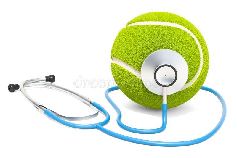 Αθλητική ιατρική στην έννοια αντισφαίρισης τρισδιάστατη απόδοση ελεύθερη απεικόνιση δικαιώματος