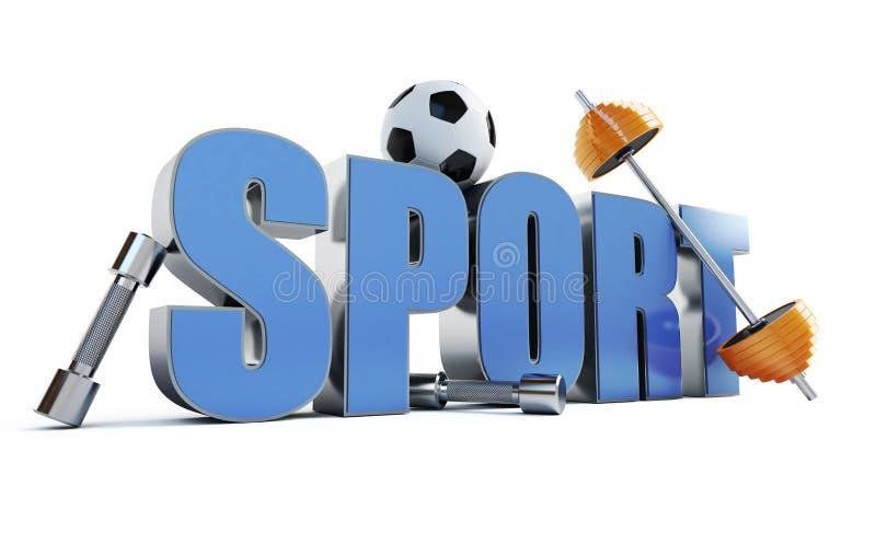 αθλητική λέξη απεικόνιση αποθεμάτων