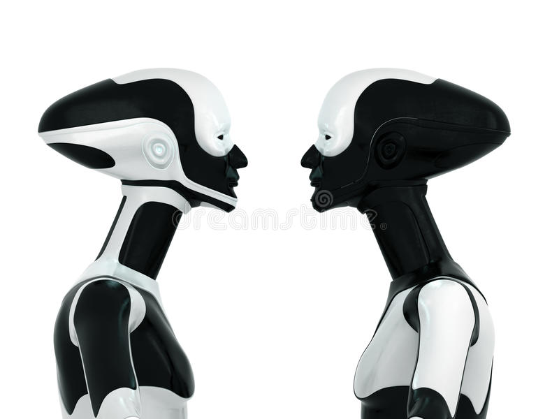 αθλητικός μοντέρνος ρομπότ διανυσματική απεικόνιση