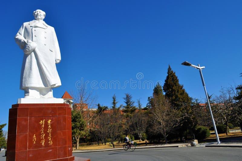 Αθλητικός πανεπιστημιακός πρόεδρος Mao Statue του Πεκίνου στοκ φωτογραφίες