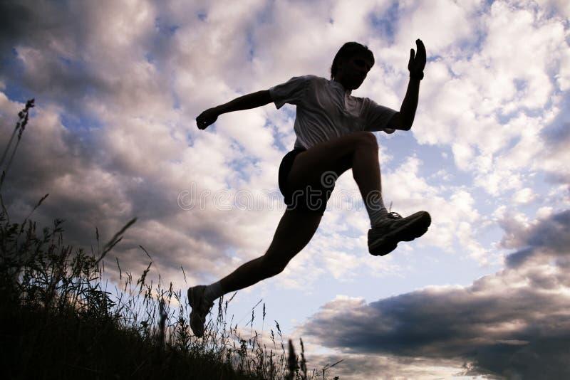 αθλητικός τύπος σκιαγρα& στοκ εικόνα